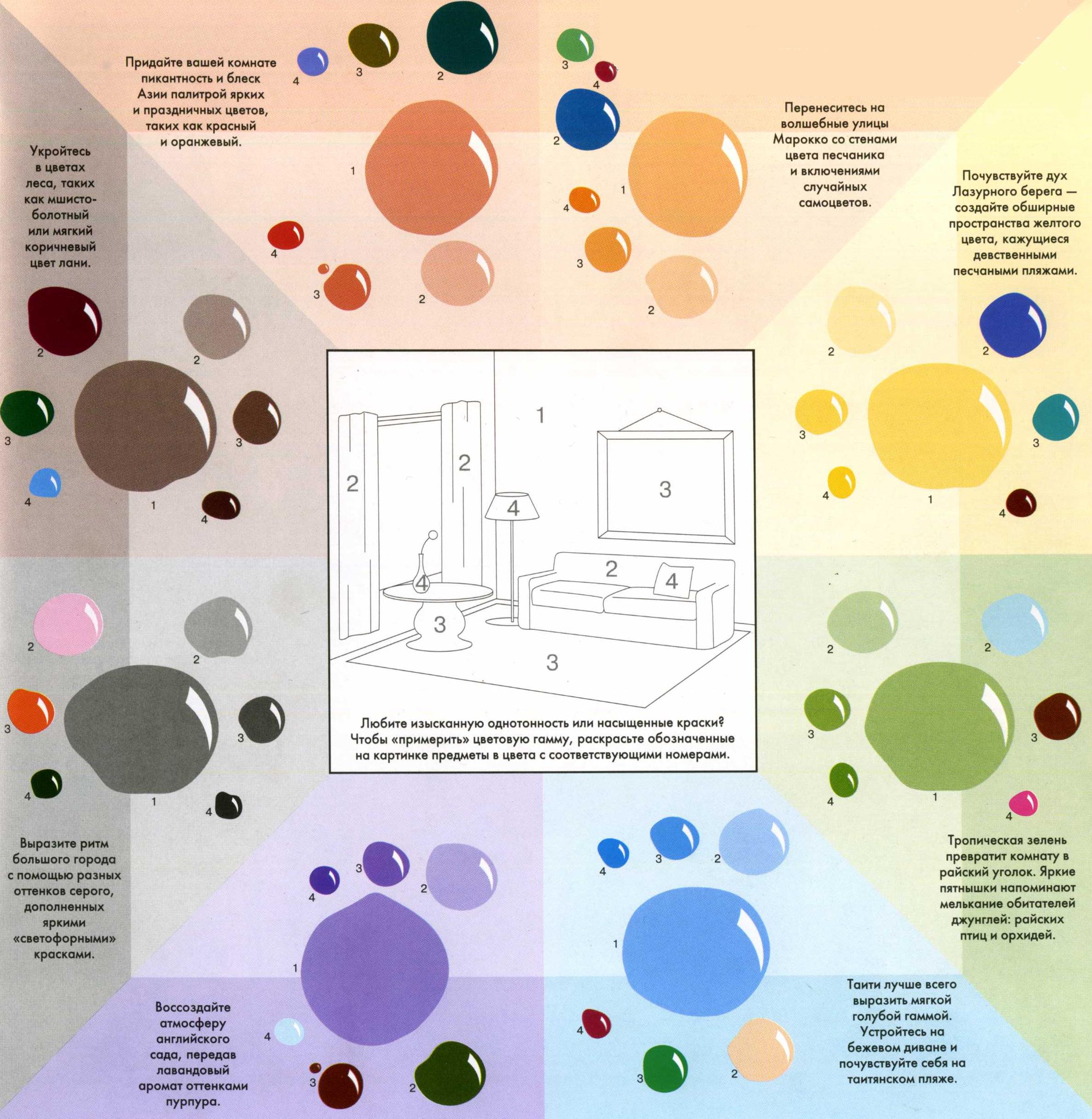 Цветовая палитра дома